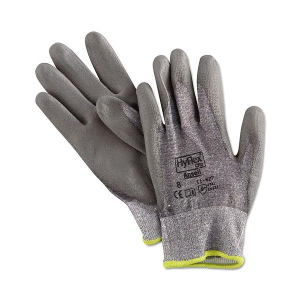 AnsellPro HyFlex 627 Light-Duty Gloves, Size 8, Dyneema/Lycra/Polyurethane, GY, 12 Pairs
