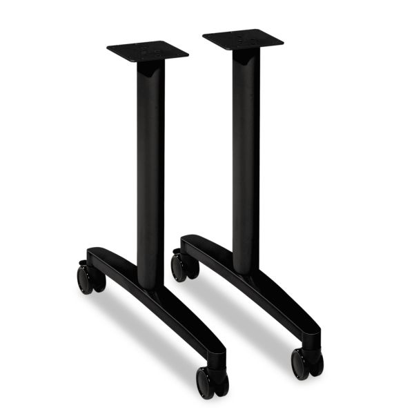 "HON Huddle T-Leg Base for 24"" and 30"" Deep Table Tops, Black"