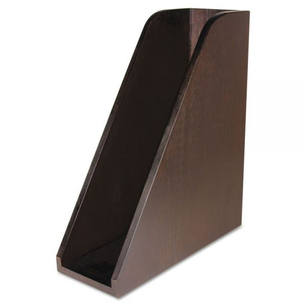 Artistic Curved Magazine File, Bamboo, 3 1/4 x 10 x 11 1/2, Espresso Brown