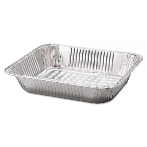 "Handi-Foil of America Steam Table Aluminum Pan, Half-Size, 2 9/16"" Deep, 100/Carton"