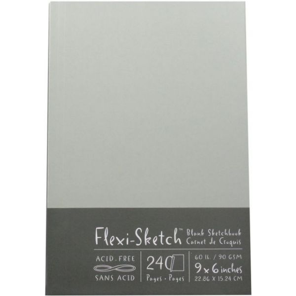 "Flexi-Sketch Blank Sketch Book 6""X9"""