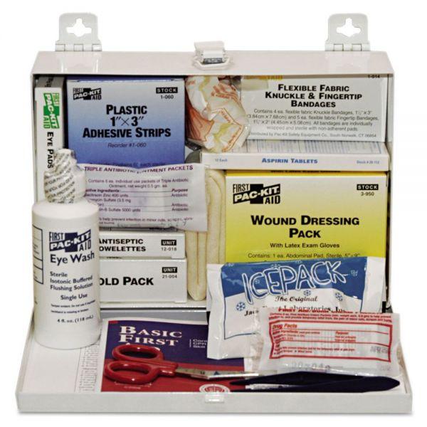Pac-Kit 25-Person Steel First-Aid Kit, w/Eyewash