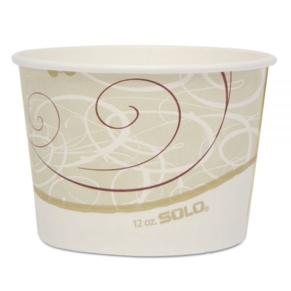 """Dart Single Poly Paper Container, 12 oz, Symphony, 4.2"""" dia, 60/Pack, 20 Pack/Carton"""