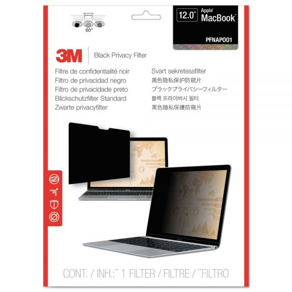 "3M Blackout Frameless Privacy Filter for 12"" Widescreen MacBook Air, 16:9"