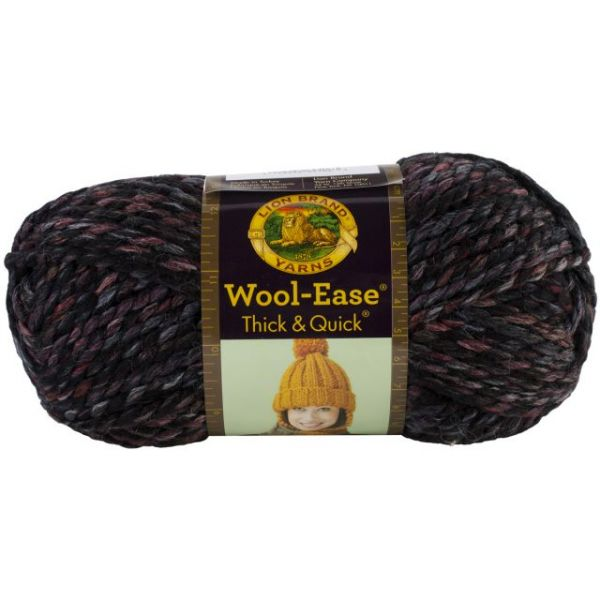 Lion Brand Wool-Ease Thick & Quick Yarn - Blackstone Stripes