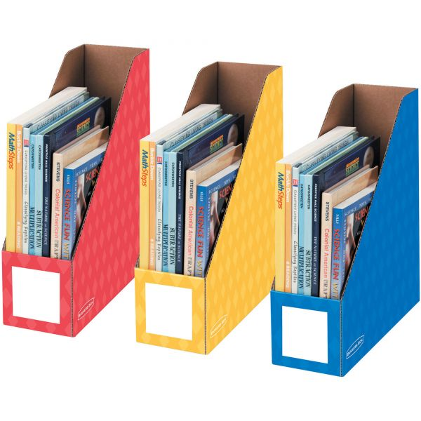 "Bankers Box 4"" Magazine File Holders - Primary, 3pk"