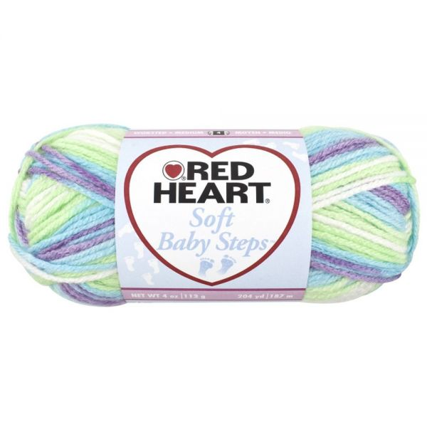 Red Heart Soft Baby Steps Yarn - Tickle
