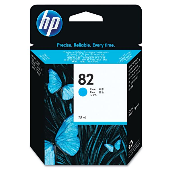 HP 82 Cyan Ink Cartridge (CH566A)