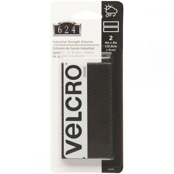 "VELCRO(R) Brand Industrial Strength Extreme Fasteners 4""X2"""