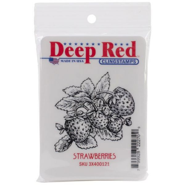 """Deep Red Cling Stamp 2""""X2"""""""