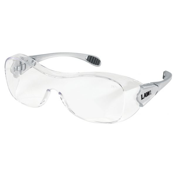 MCR Safety Law Over the Glasses Safety Glasses, Clear Anti-Fog Lens