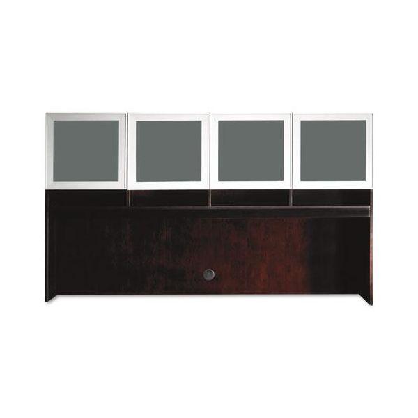 Tiffany Industries Eclipse Series Hutch, 70w x 14d x 39h, Espresso Walnut
