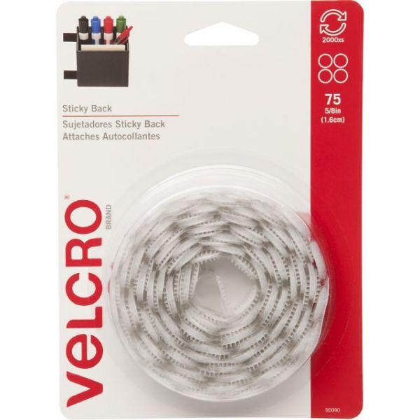 "VELCRO(R) Brand STICKY BACK Coins 5/8"" 75/Pkg"