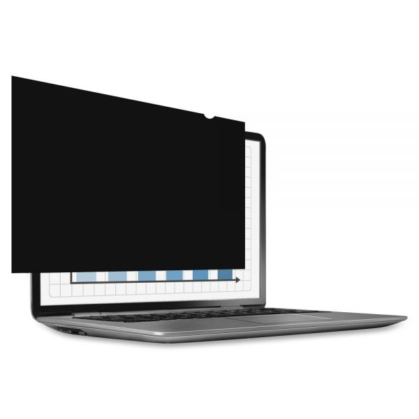 """Fellowes PrivaScreen Blackout Privacy Filter - 14.0"""" Wide Crystal Clear, Black"""