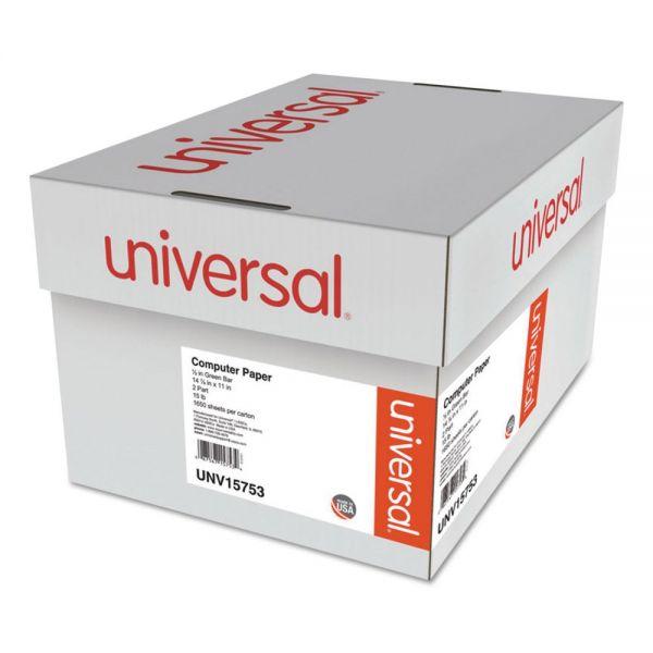 Universal 2-Part Green Bar Computer Paper