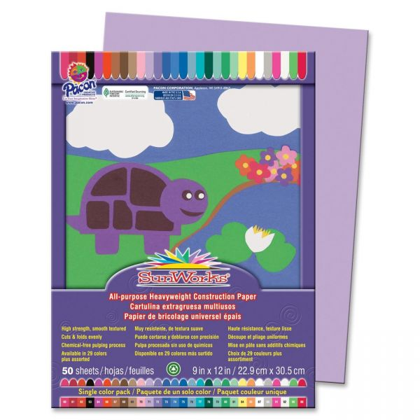 SunWorks Heavyweight Purple Construction Paper