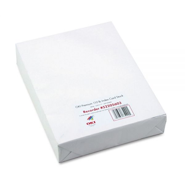 Oki Index White Card Stock