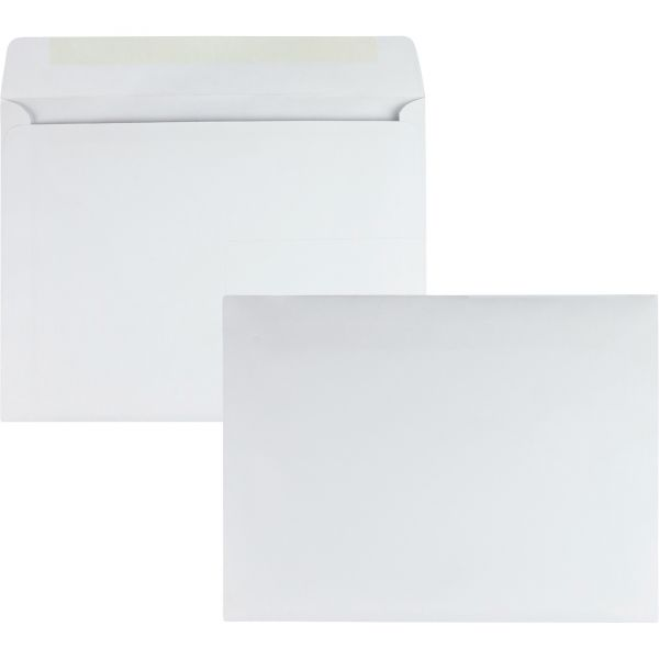 Quality Park Open Side Booklet Envelope, 13 x 10, White, 100/Box