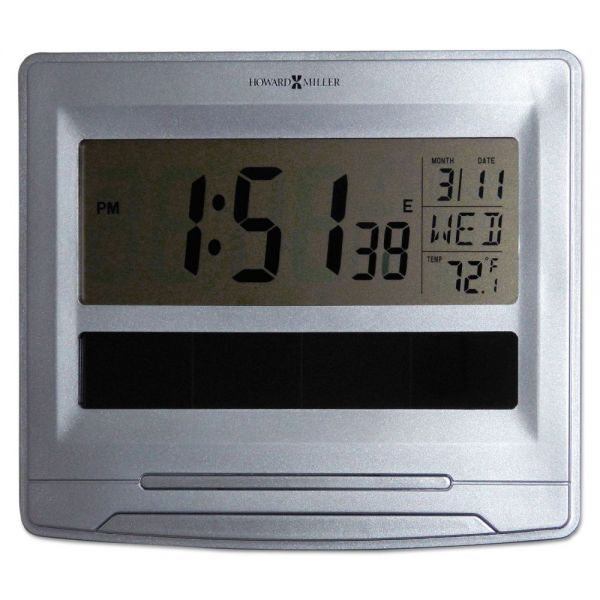 Howard Miller Solar Tech Desk/Wall Clock
