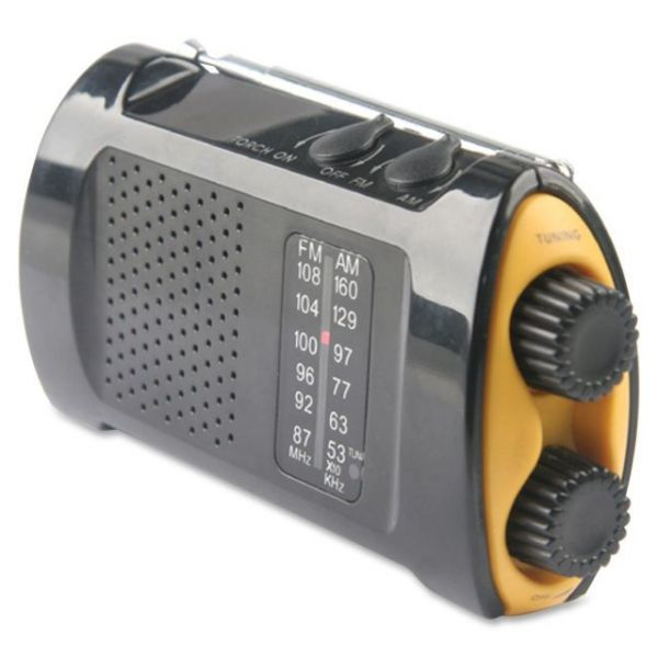 Acme United Portable AM/FMTV Crank Radio