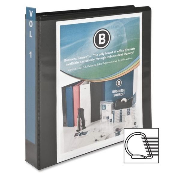 "Business Source Basic 1 1/2"" 3-Ring View Binder"