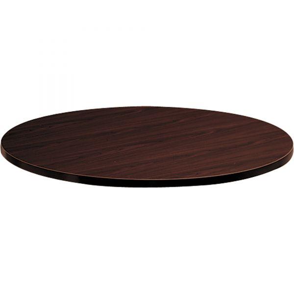 HON Mahogany Round Laminate Table Top