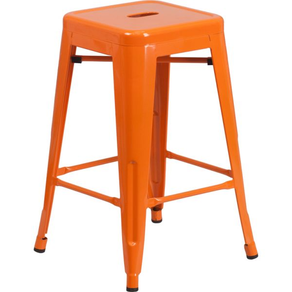 Flash Furniture Backless Metal Stool