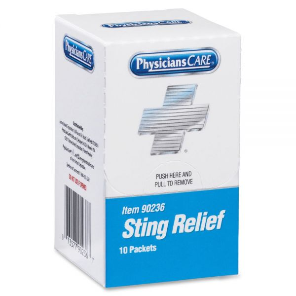 PhysiciansCare Sting Relief Pads