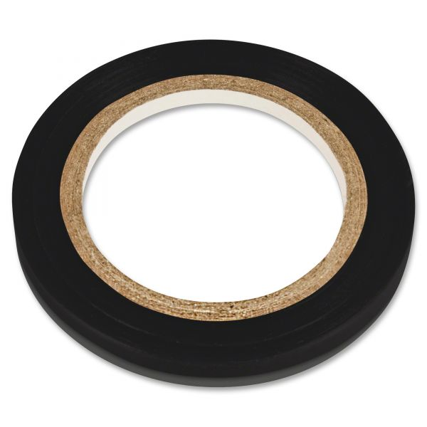 "COSCO Art Tape, Black Gloss, 1/8"" x 324"""