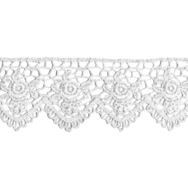 """Scalloped Rose Venice Lace 1-1/2""""X10yd"""