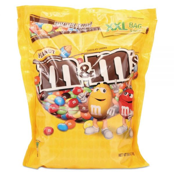 M & M's Milk Chocolate With Peanuts Bite Size Candy (3.5 lbs)