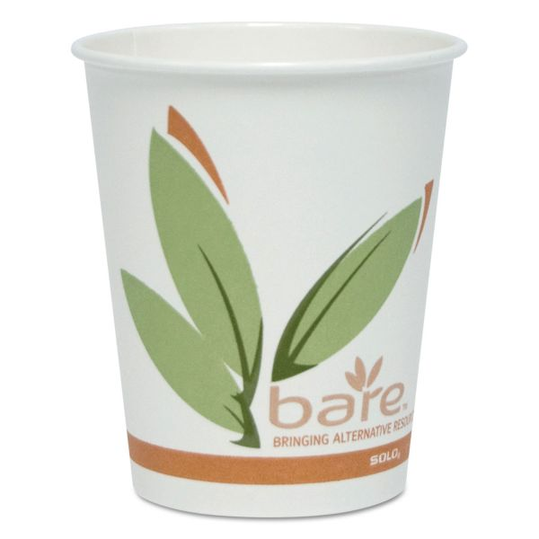 Dart Bare by Solo Eco-Forward Recycled Content PCF Hot Cups, Paper, 10 oz, 300/Carton