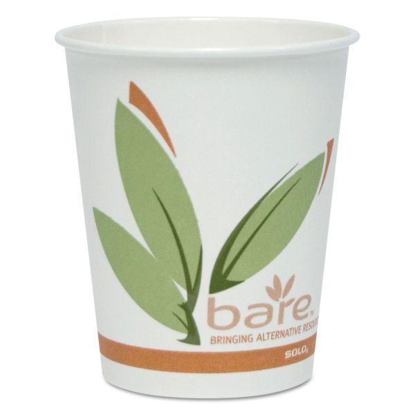 SOLO Cup Company Bare Eco-Forward 10 oz Paper Coffee Cups