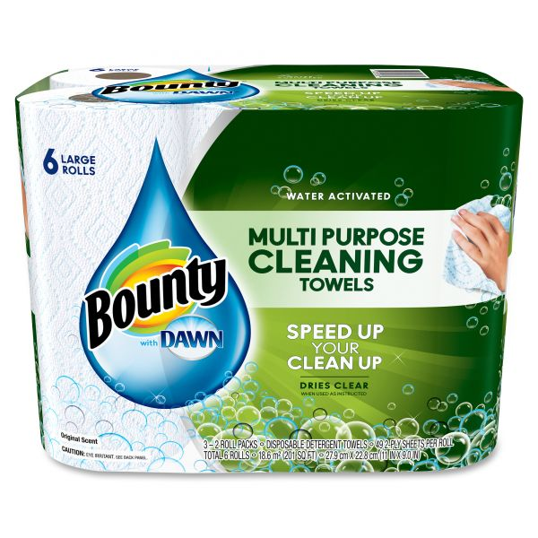 Bounty Paper Towels with Dawn