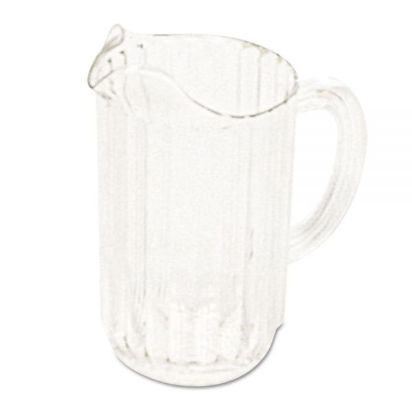Rubbermaid Commercial Bouncer Plastic Pitcher, 54 oz, Clear, Polycarbonate