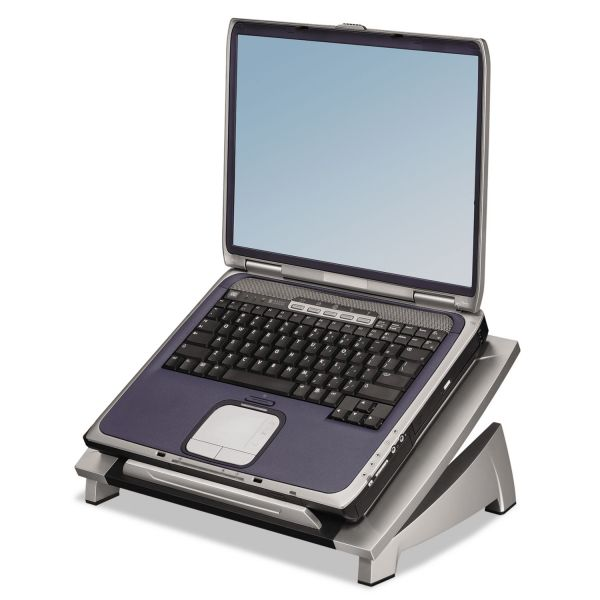 Fellowes Office Suites Laptop Riser, 15 1/8 x 11 3/8 x 4 1/2-6 1/2, Black/Silver