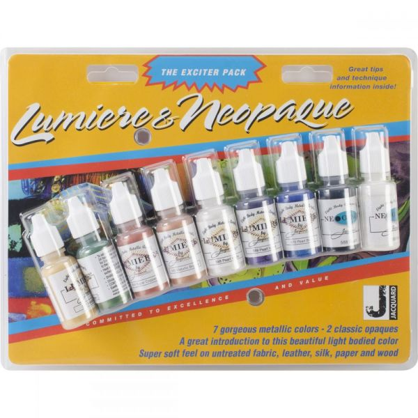 Jacquard Lumiere/Neopaque Pack .5oz 9/Pkg