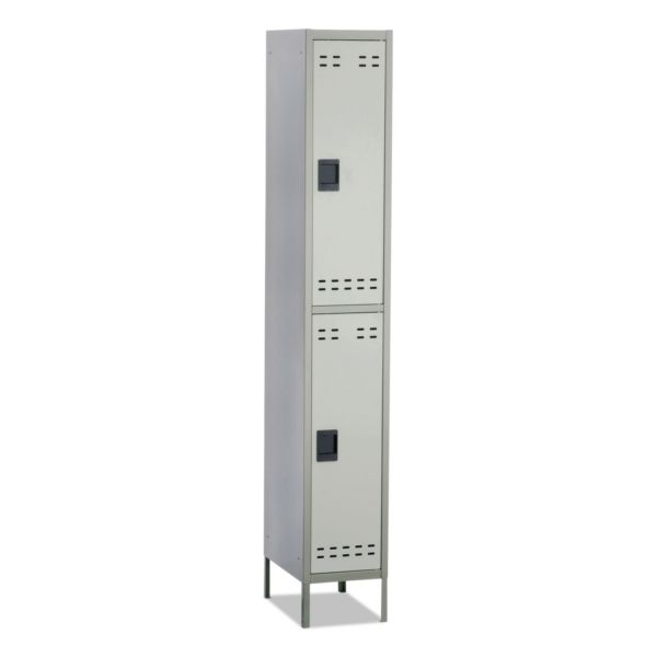Safco Double-Tier Two-tone Locker with legs