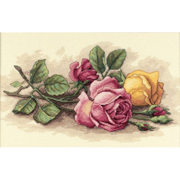 Dimensions Rose Cuttings Counted Cross Stitch Kit