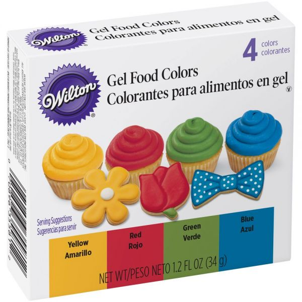 Decorating Icing Set 1.2oz 4/Pkg