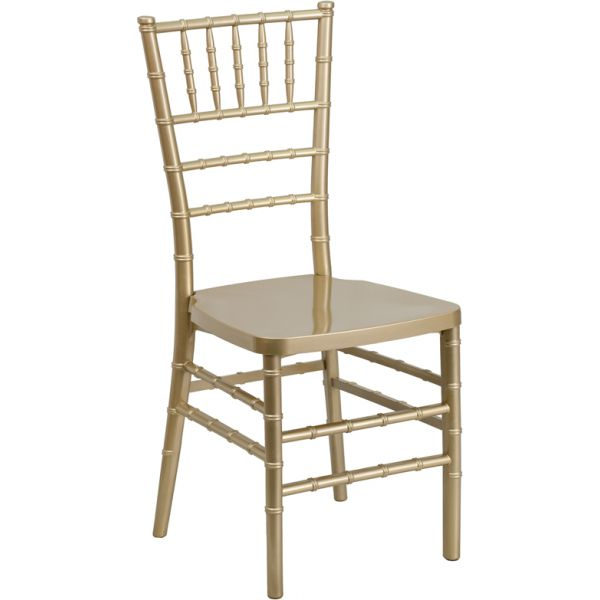 Flash Furniture PREMIUM Series Gold Resin Stacking Chiavari Chair
