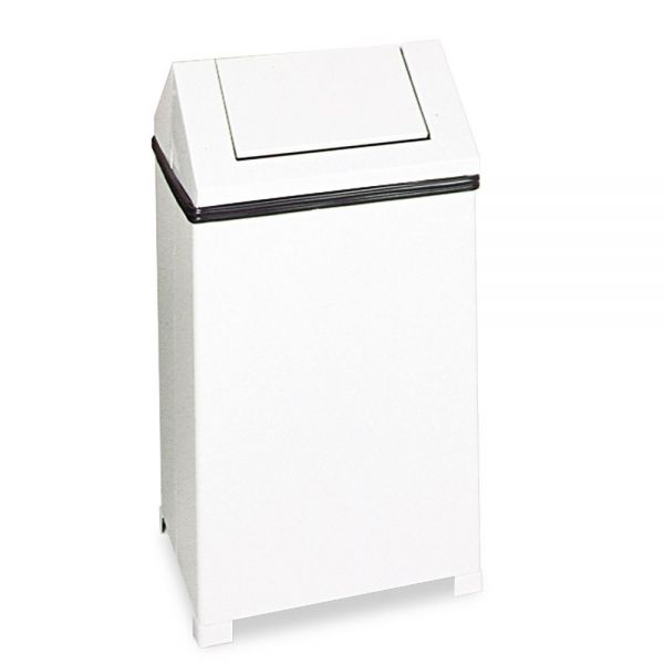 Rubbermaid Commercial Fire-Safe 24 Gallon Trash Can With Swing Top Lid