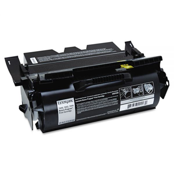 Lexmark 64075SW Toner, 6000 Page-Yield, Black