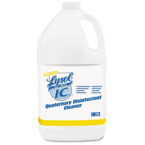 LYSOL Brand I.C. Quaternary Disinfectant Cleaner, 1gal Bottle, 4/Carton