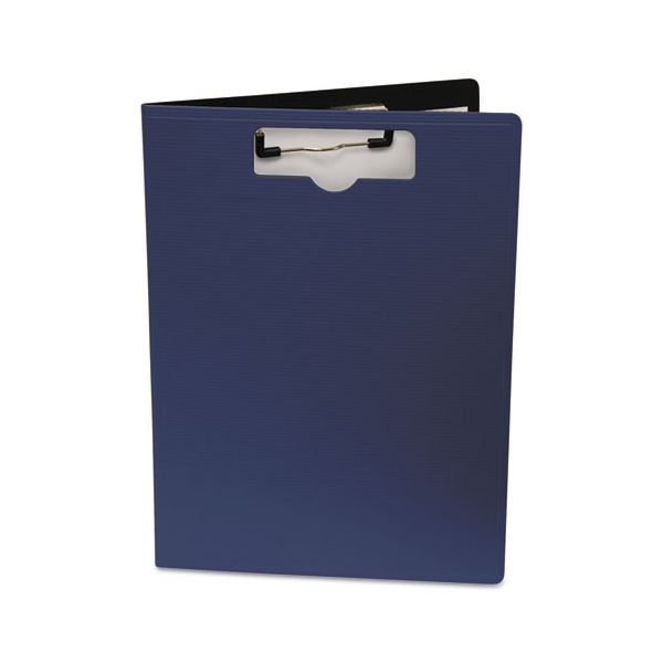 """Mobile OPS Portfolio Clipboard With Low-Profile Clip, 1/2"""" Capacity, 8 1/2 x 11, Blue"""