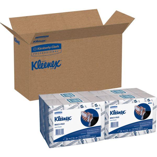 "Kleenex Multifold Paper Towels, 9.20"" x 9.40"", White, 150 Sheets/Pack, 16 Packs/ Carton"
