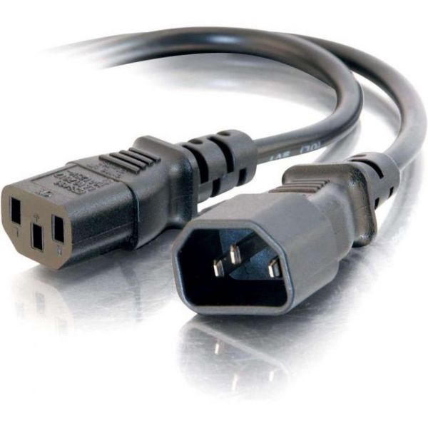 C2G 3ft Computer 18 AWG Power Cord Extension (IEC320C14 to IEC320C13)