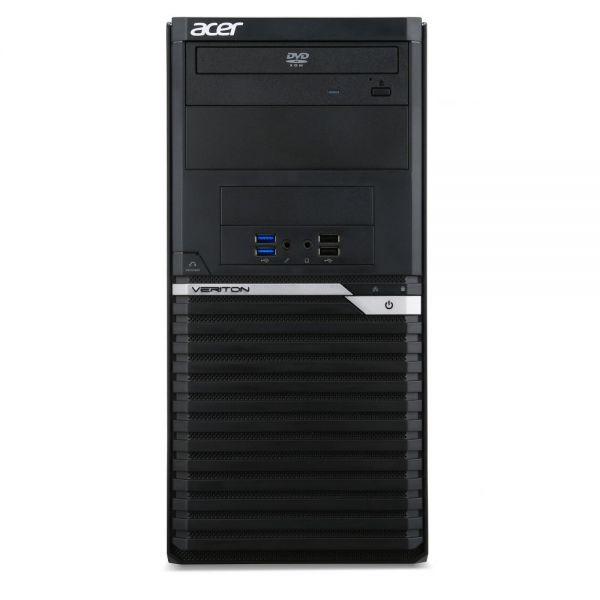 Acer Veriton M6640G VM6640G-70021 Desktop Computer - Intel Core i7 (6th Gen) i7-6700 3.40 GHz - Mini-tower - Black, Silver