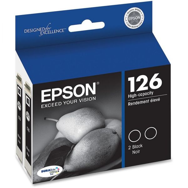 Epson 126 Black High-Capacity Ink Cartridges (T126120-D2)