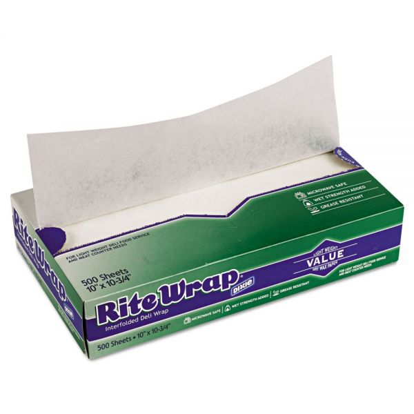 Dixie Rite-Wrap Interfolded Lightweight Dry Waxed Deli Tissue Sheets